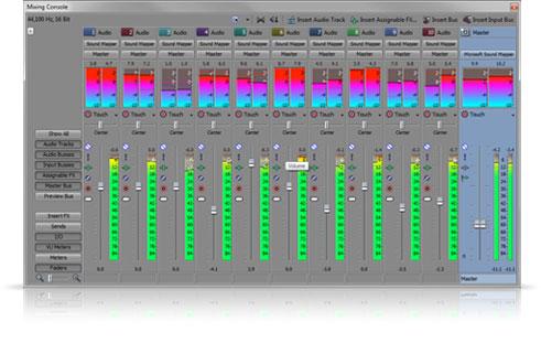 Sony Vegas Pro, Control de audio de máxima calidad