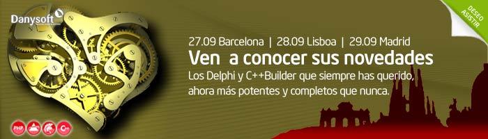 Delphi XE2 y C++Builder XE2 en barcelona