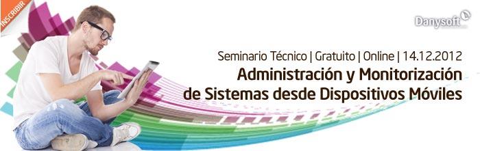 administración y monitorización de aplicaciones desde dispositivos móviles