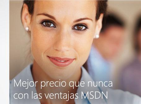 Mejor precio que nunca con las ventajas MSDN
