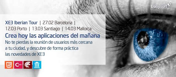 XE3 iberian tour en barcelona, porto, santiago y mallorca