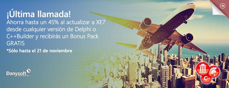 Última llamada para actualizar a Delphi y C++Builder XE7