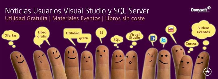noticias usuarios visual Studio, sql server, sharepoint y office 365