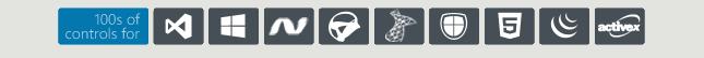 ComponentOne te ofrece cientos de controles .NET