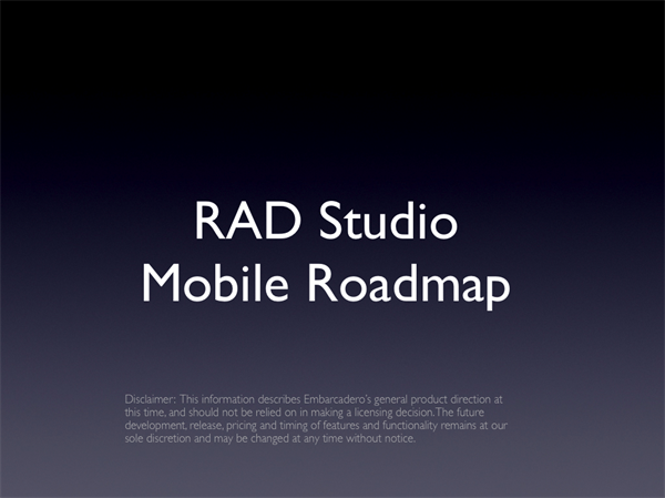 RAD Mobile Studio XE3