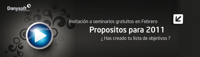 Invitación a seminarios web y presenciales febrero 2011