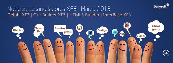 noticias desarrolladores delphi, c++builder, interbase y html5 builder