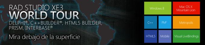 Evento lanzamiento Embarcadero Delphi XE3, HTML5 builder