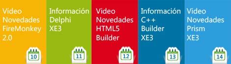 eventos diarios sobre C++ Builder XE3, videos, artículos, ofertas y presentaciones