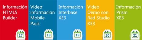 eventos diarios sobre RAD Studio XE3, videos, artículos, presentaciones y ofertas
