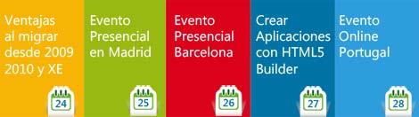 eventos diarios sobre HTML5 Builder XE3, videos, artículos, ofertas y presentaciones