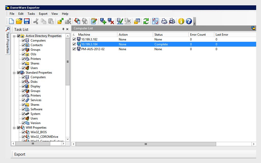 grafico Dameware Remote Support v10