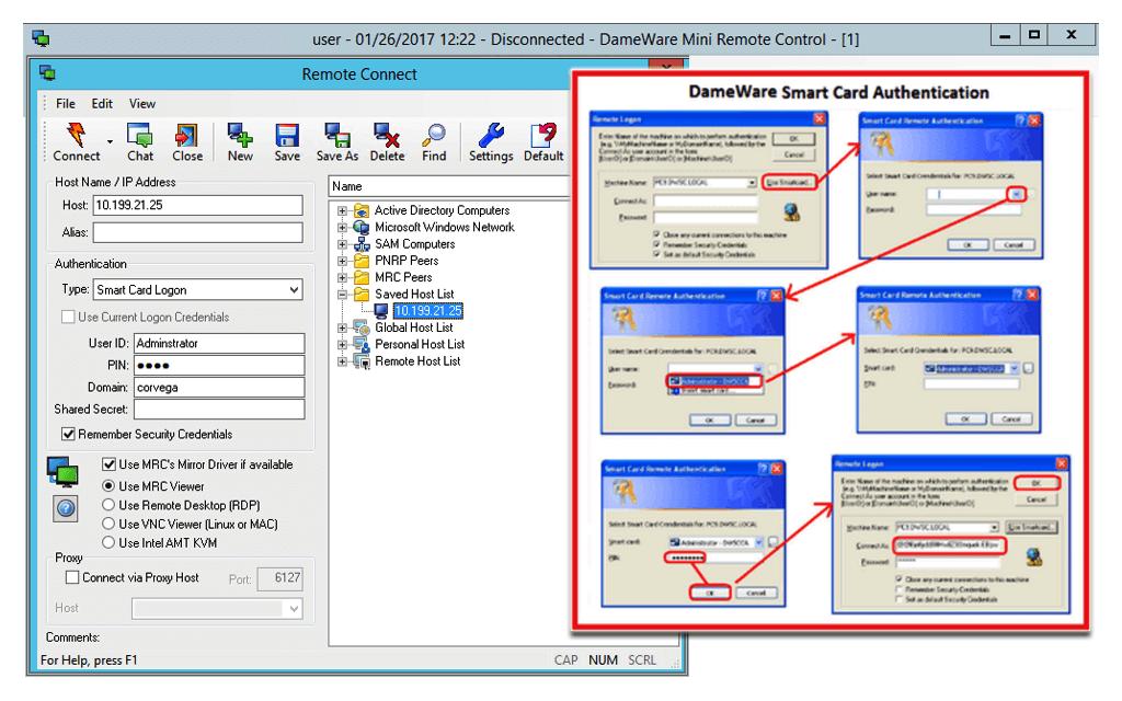 grafico Dameware Remote Support v6